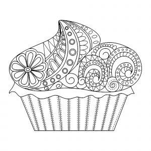 Cupcake fleurit