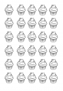 coloriage cupcakes hello kitty