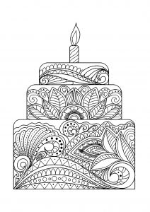 Gros gâteau fleuri