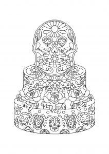Gâteau décoré Mexicain