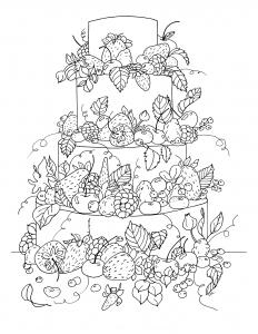 coloriage-gros-gateau-fruite-par-olivier free to print