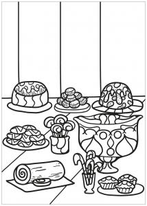 Coloriage livre gratuit cupcake 1