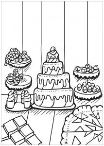 Coloriage livre gratuit cupcake 2
