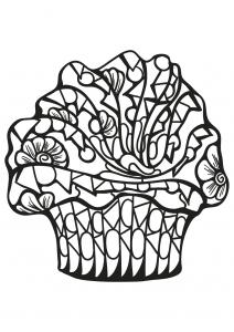 Coloriage livre gratuit cupcake 7