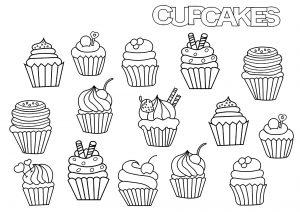 Cupcakes Et Gâteaux Coloriages Difficiles Pour Adultes