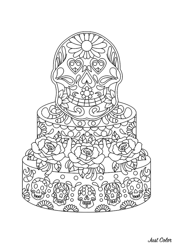 Gâteau Décoré Mexicain Cupcakes Et Gâteaux Coloriages