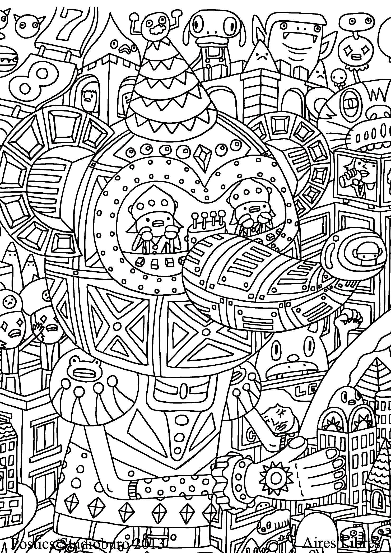 Doodle Art 1 : Ville futuriste et rigolote