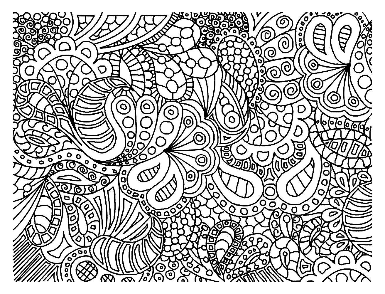 Coloriage  partir d un Doodle tr¨s régulier et harmonieux