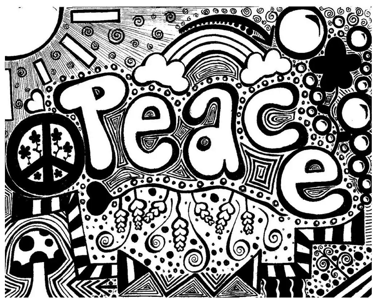 Message de paix dans ce magnifique dessin 'doodlé'