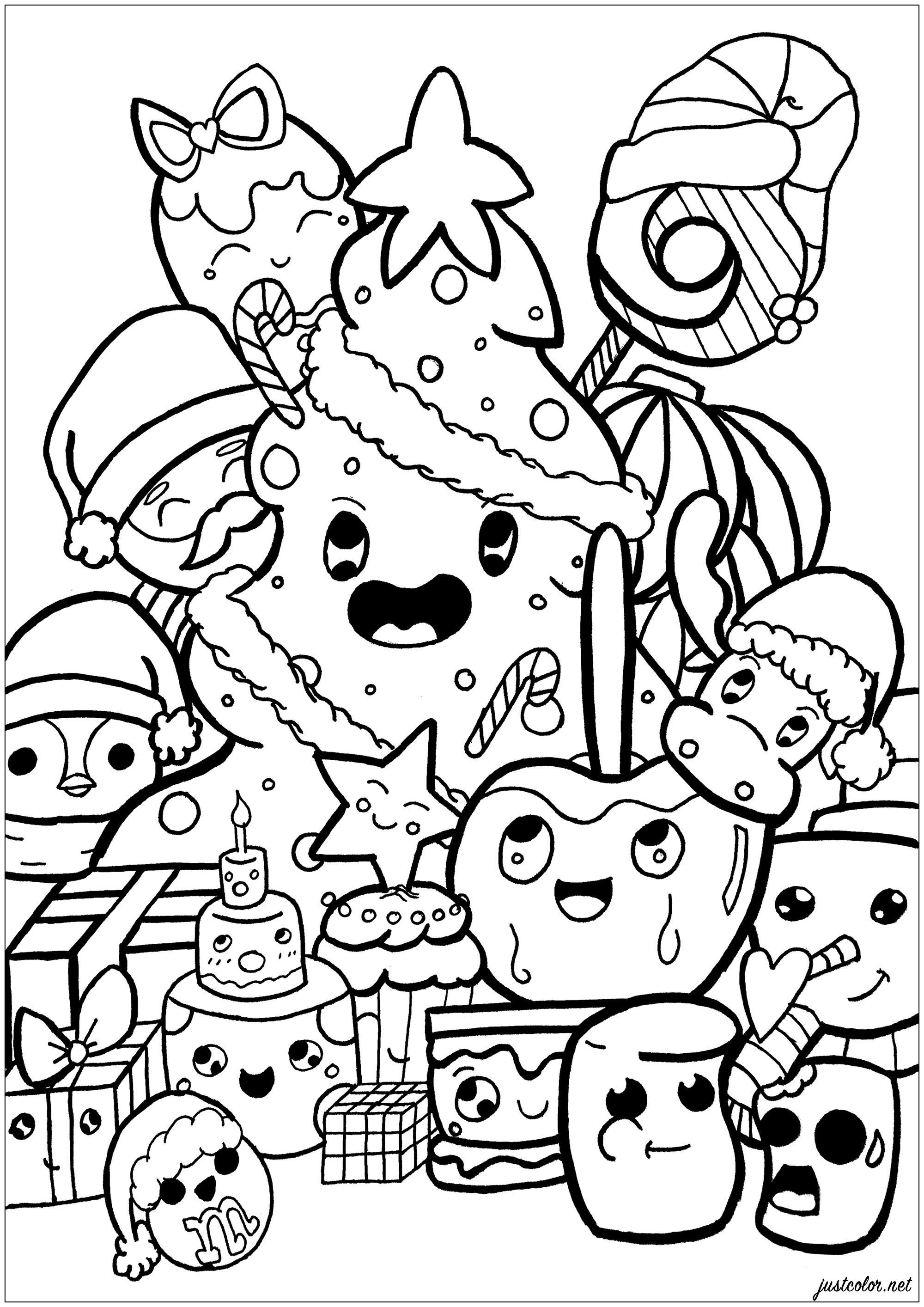 Drôle créatures de Noël dans un très original Doodle