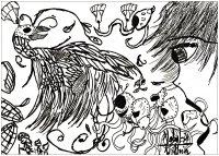 Coloriage adulte dessin Doodles 02 par valentin
