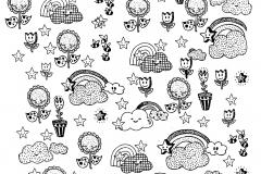 Coloriage adulte joyeux doodles