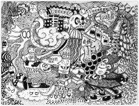 Coloriage doodle lover par bon arts