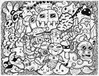 Coloriage doodle rigolo par bon arts