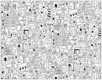 doodle batiments ville