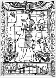 Coloriage anubis dieu de l egypte ancienne