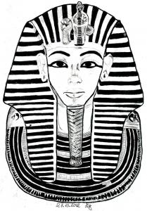 coloriage-egypte-masque-toutankhamon free to print
