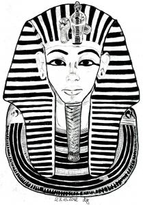 Coloriage egypte masque toutankhamon