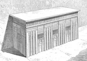 Coloriage egypte tombeau