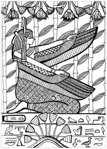 Coloriage grand pretre de ptah le patron dieu des artisans