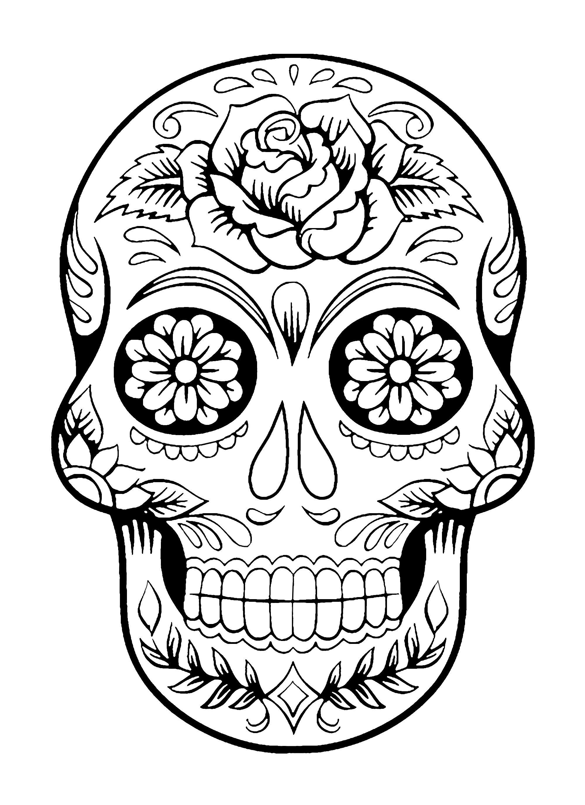 Coloriage El Día de los Muertos (Le jour des morts) - 4