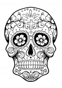 Coloriage el dia de los muertos 3