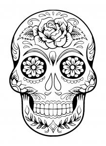 Coloriage el dia de los muertos 4