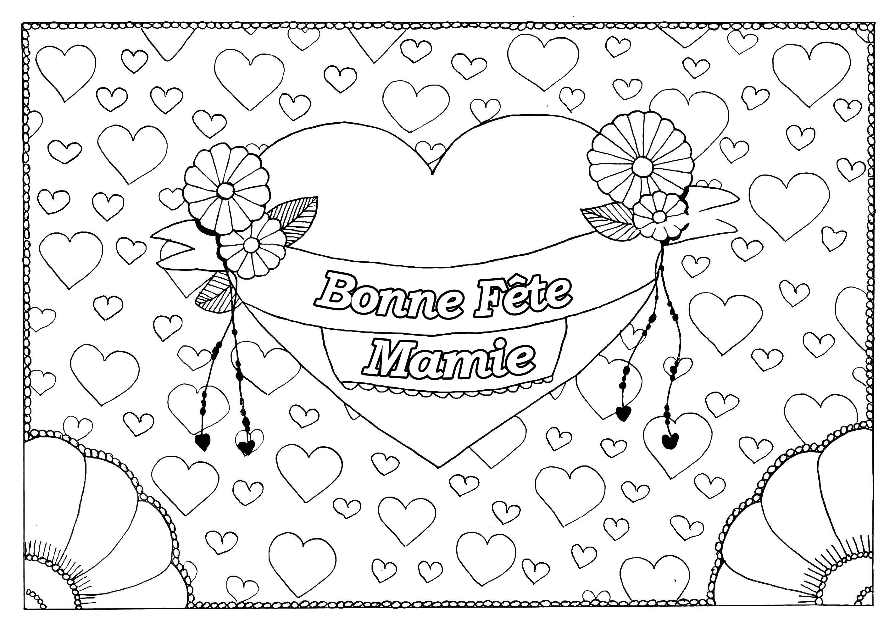 Fete Grand Fetes Des Grands Parents Coloriages Difficiles Pour