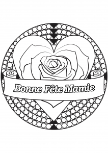 Coloriage fete grand parents mamie 10