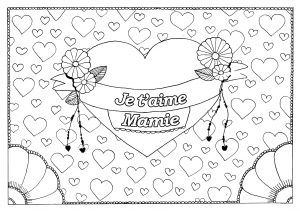 Coloriage fete grand parents mamie 15