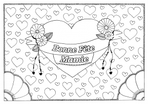 Coloriage fete grand parents mamie 16