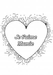 Coloriage fete grand parents mamie 20