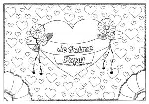 Coloriage fete grand parents papy 17