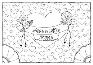 Coloriage fete grand parents papy 18
