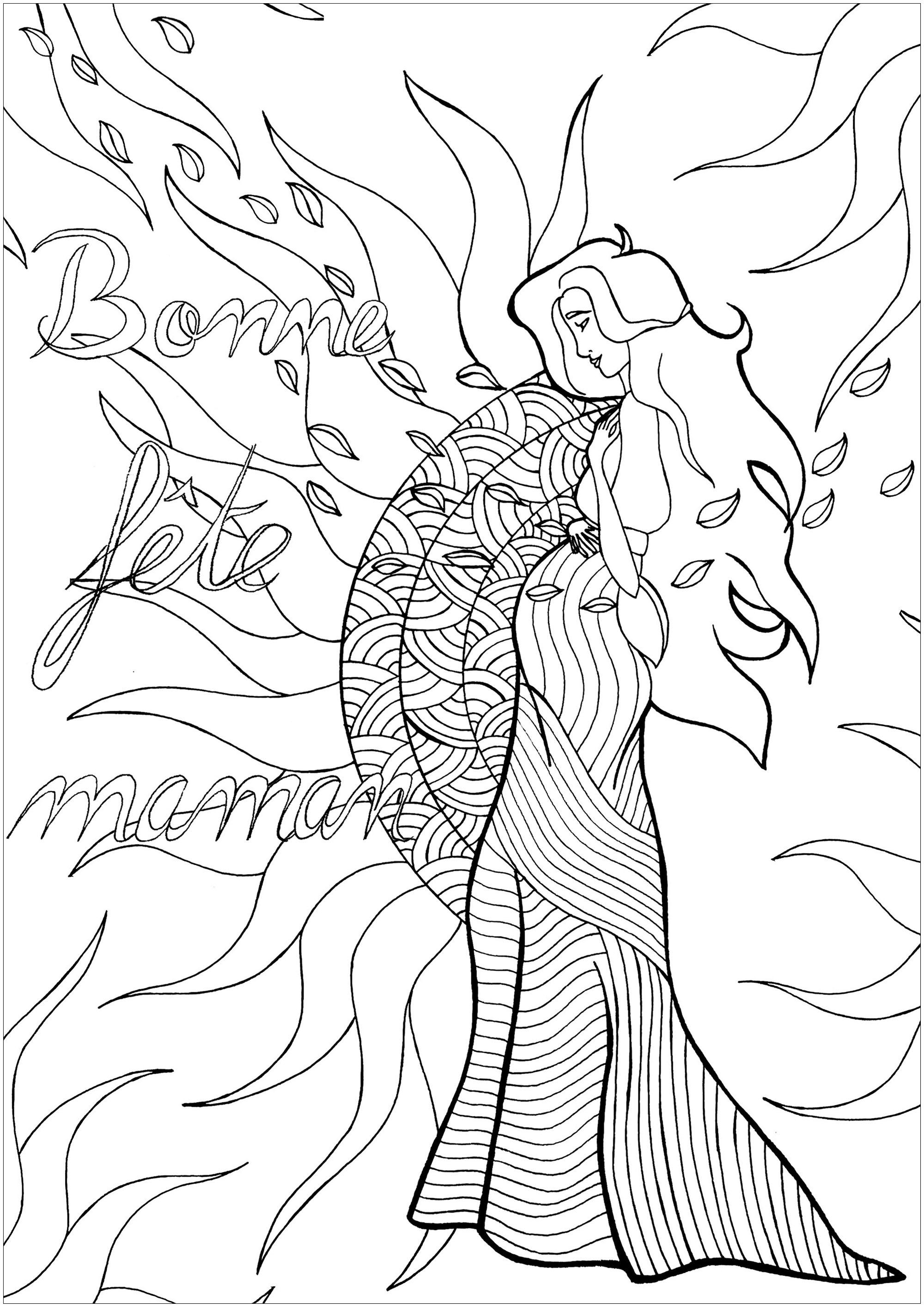 'Donner la vie' : un coloriage exclusif pour la Fête des mères