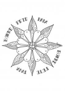 Coloriage fleur fete des peres par Azyrielle