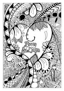 coloriage-adulte-fete-des-peres-zentangle-celine free to print