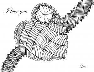 coloring saint valentin coeur et amour par leen margot