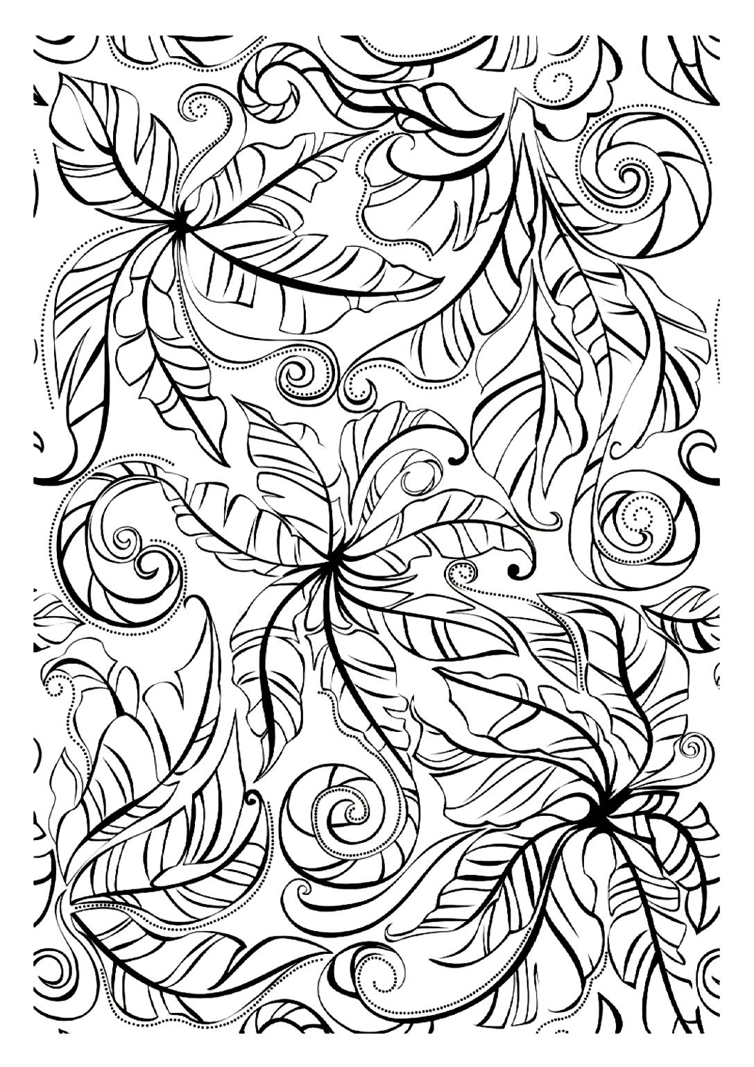Feuilles ou Papillons ? Un dessin troublant, à vous de le colorier pour choisir ce qu'il représente