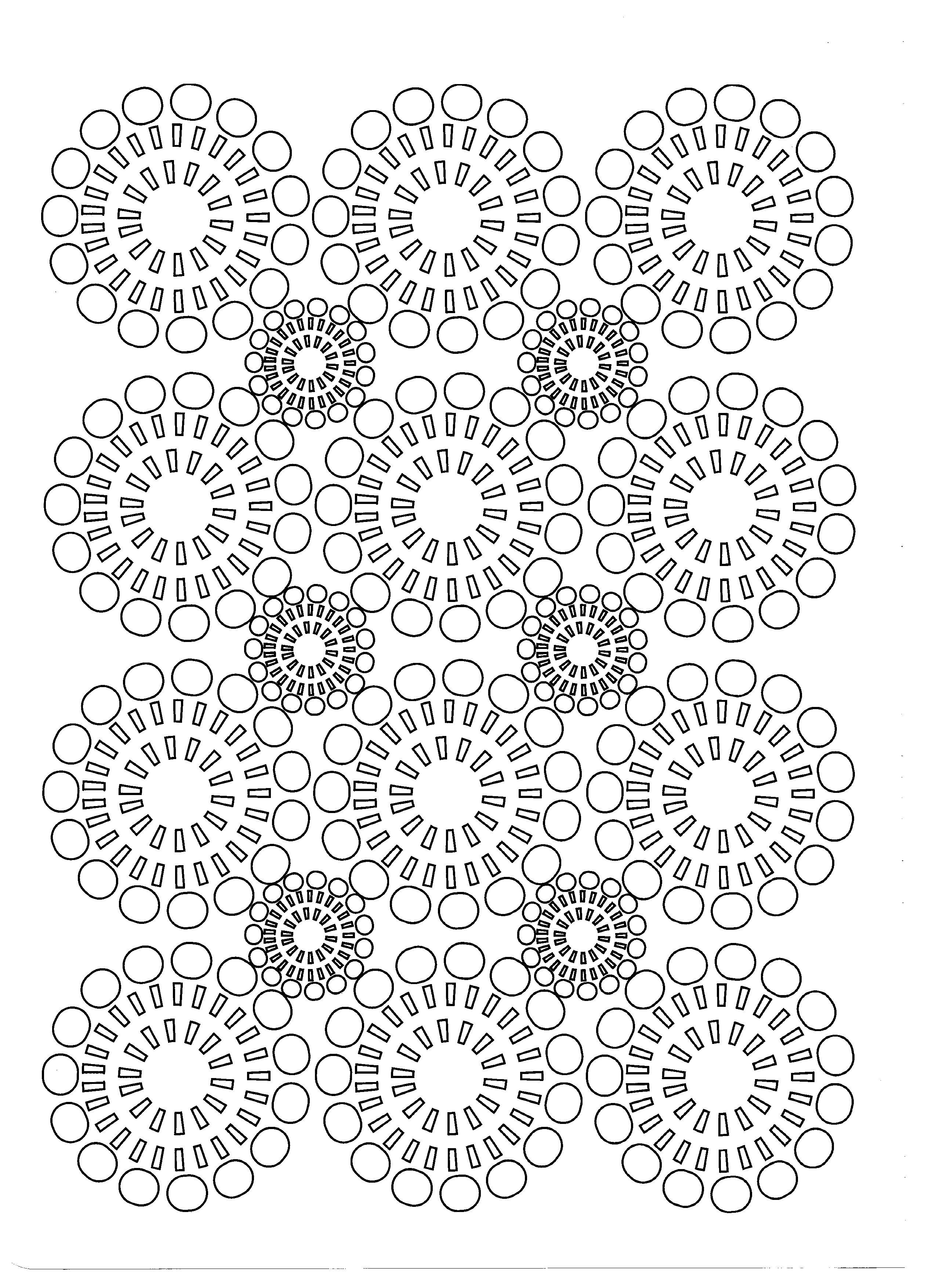 Fleurs cercles