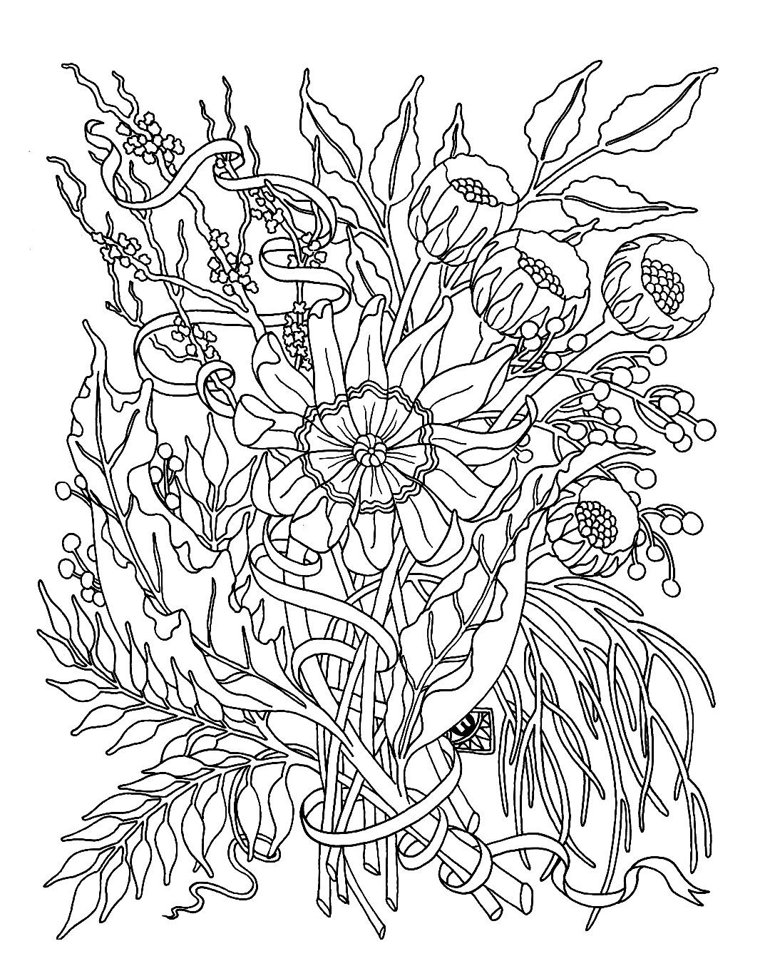 Pour adulte fleurs jardin fleurs et v g tation coloriages difficiles pour adultes justcolor for Image de jardin a imprimer