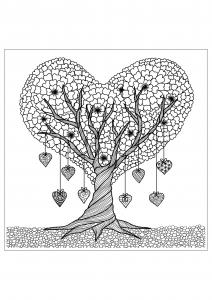 coloriage-adulte-arbre-details free to print