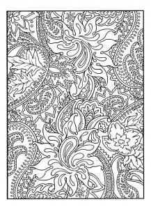 Coloriage adulte jolis motifs vegetaux