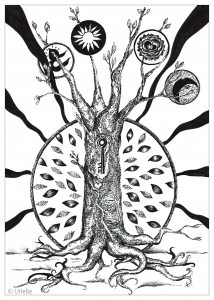 coloriage adulte la cle de l arbre urielle