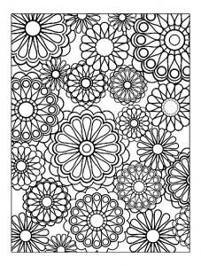 Coloriage difficile fleurs