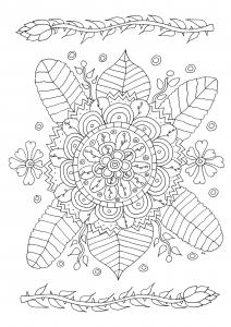 Coloriage fleurs et motifs simples par olivier