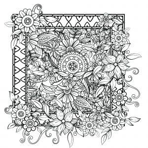 Fleurs sortant du cadre