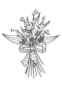 Coloriage muguet par Azyrielle