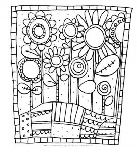 Coloriage simple fleurs