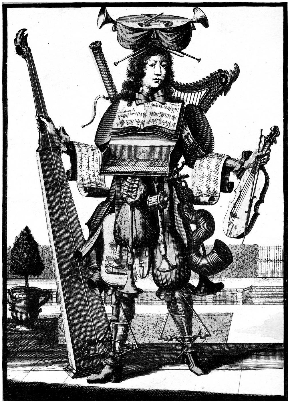 L'homme orchestre, gravure